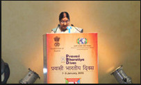 Welcome Address by EAM & MOIA at the Inaugural Session of PBD 2015